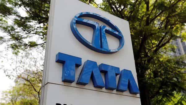 Tata Motors logo is pictured outside the company showroom in Mumbai, India (REUTERS)