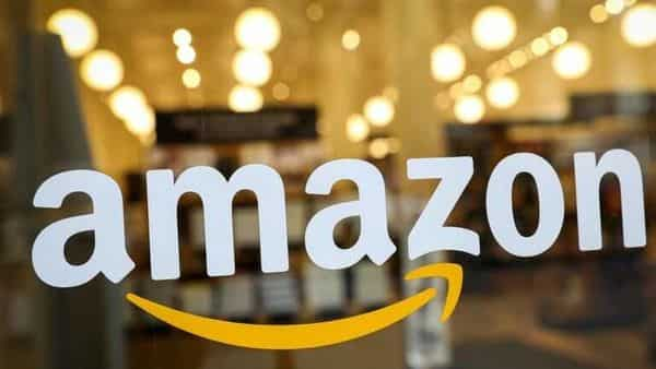 Amazon logo is seen on the door of an Amazon Books retail store in New York City, U.S. (REUTERS)