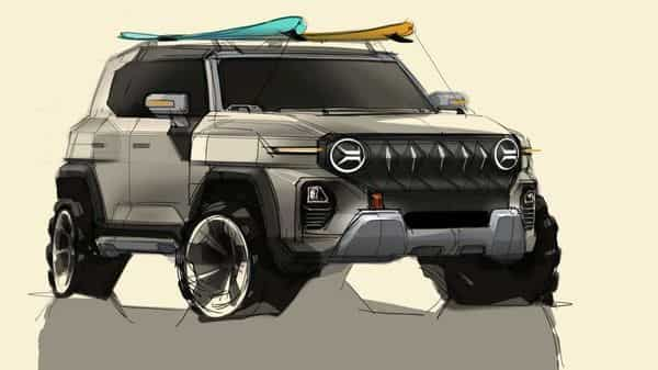 The stance of the SsangYong is comparable to that of the Mahindra Thar 2020