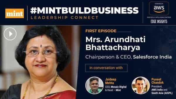 Jaideep Mehta, CEO of Mosaic Digital talked with Arundhati Bhattacharya, CEO of Salesforce India and Puneet Chandok, President, AWS India and South Asia,