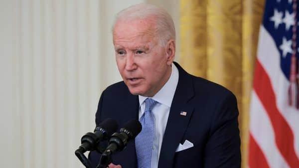 U.S. President Joe Biden speaks about the pace of coronavirus disease (COVID-19) vaccinations in the US (REUTERS)