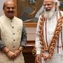Karnataka CM Basavaraj S Bommai with PM Modi
