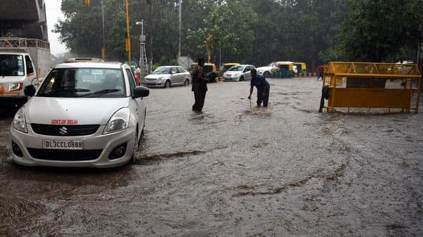 Heavy rainfall lashed parts of Delhi and the National Capital Region (NCR) in the early hours of Sunday