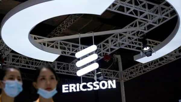 An Ericsson sign is seen at the third China International Import Expo (CIIE) in Shanghai, China. FILE PHOTO  (REUTERS)