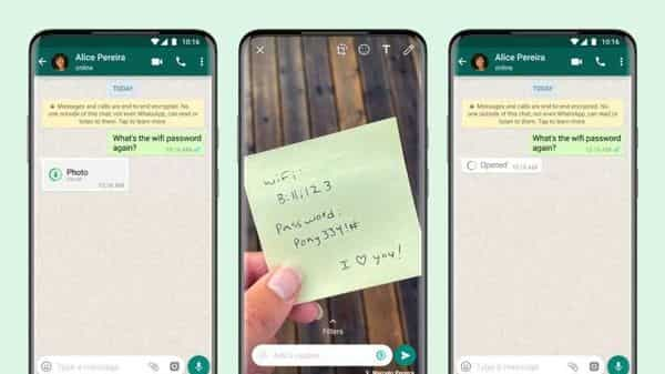 WhatsApp's 'View Once' media will not be saved to the recipient's photos or gallery
