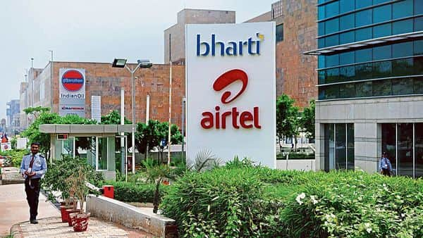 Bharti Airtel share price today shot up more than  ₹40 and hit  ₹614 — its intraday high against its previous day's close of  ₹574 per stock levels at NSE. (MINT_PRINT)