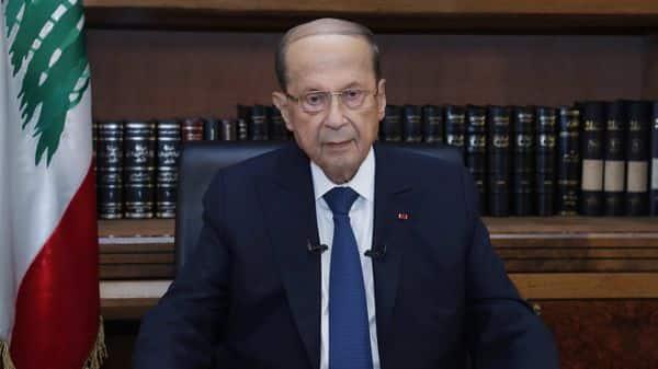 Lebanon's President Michel Aoun. (via REUTERS)