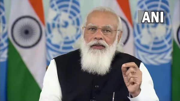 PM Narendra Modi during the virtual UNSC open debate on maritime security. (ANI photo)
