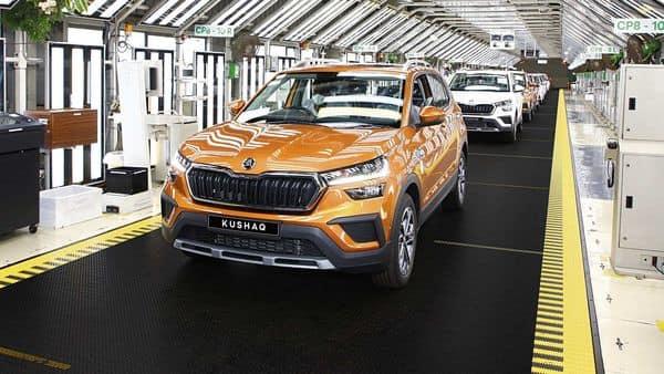 Skoda Auto launched the mid-sized Kushaq SUV on 28 June. (MINT_PRINT)
