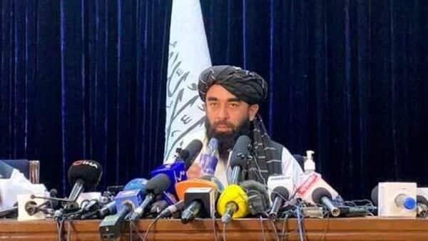 Taliban spokesman Zabihullah Mujahid speaks at at his first news conference in Kabul, Afghanistan, Tuesday, Aug. 17, 2021. (AP)