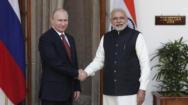 Russian President Putin with PM Modi