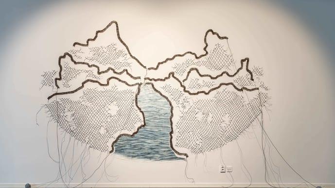 'River Drawing' (2021) by Reena Saini Kallat. Image: courtesy the artist
