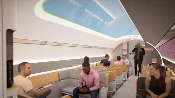 Virgin Hyperloop also shared the vision for consumer experience (Virgin Hyperloop)