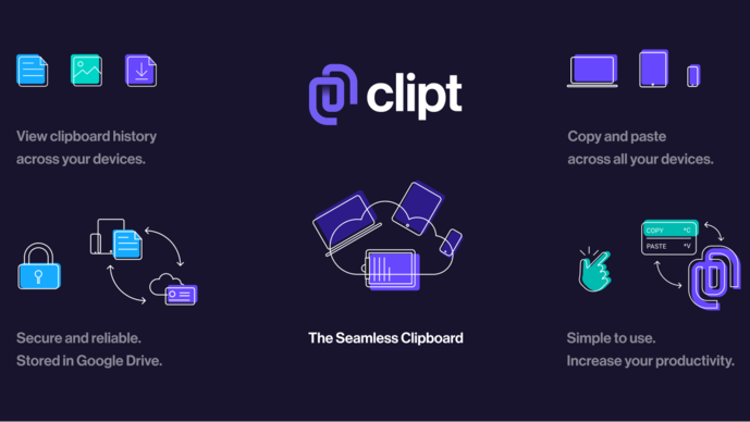 You essentially copy something on one device and paste it on another with this app. To start using Clipt, you need to download the app on your device and install a Chrome extension on your other device.
