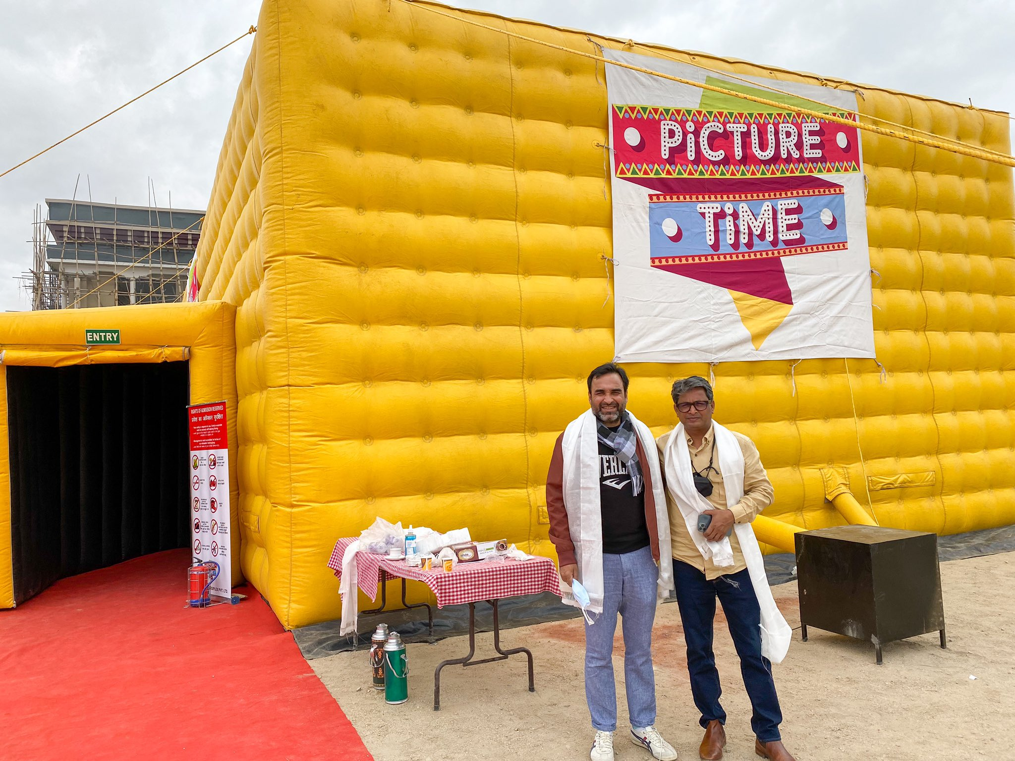Actor Pankaj Tripathi at Ladakh's world's highest movie theatre
