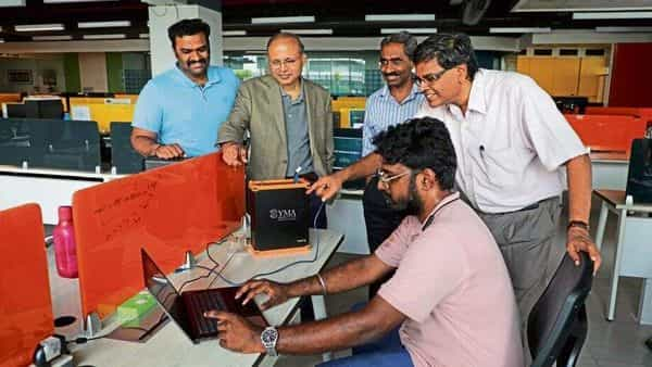 Professors at the Indian Institutes of Technology and other top institutions have started ventures that range from flying taxis and robotics to companies that tackle pollution and dabble in biomedicine. (Photo: IIT Madras)