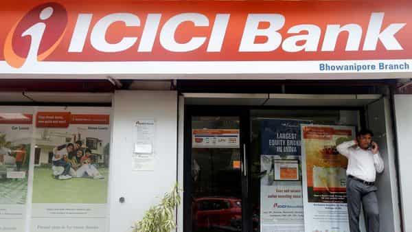 Shares of ICICI Bank Ltd have crossed the  ₹5 trillion market capitalization (m-cap) mark after surging over 35% so far this year (REUTERS)