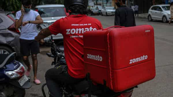 Zomato shares closed today at  ₹141.40. (Bloomberg)