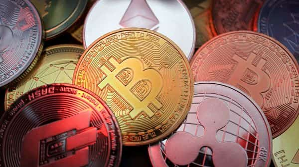 cryptocurrencies including Bitcoin, Dash, Ethereum, Ripple and Litecoin representations are seen in this illustration (REUTERS)