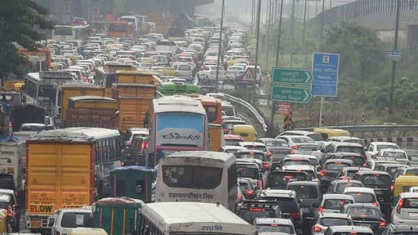 Delhi Traffic Police, on Twitter, informed that traffic has been affected in several parts of the city due to waterlogging. (PTI)