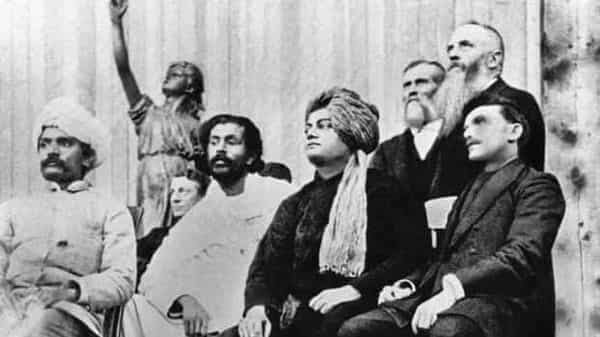 Vivekananda at the Parliament of Religions in Chicago in 1893. Photo: Wikimedia Commons