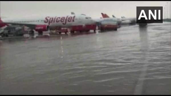 Waterlogging at T3 terminal of Delhi airport