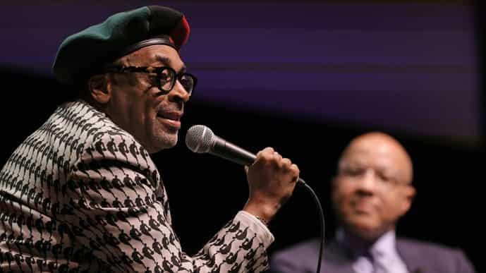 Spike Lee during the 46th Chaplin Award Gala honoring him in New York City. Photo via AFP