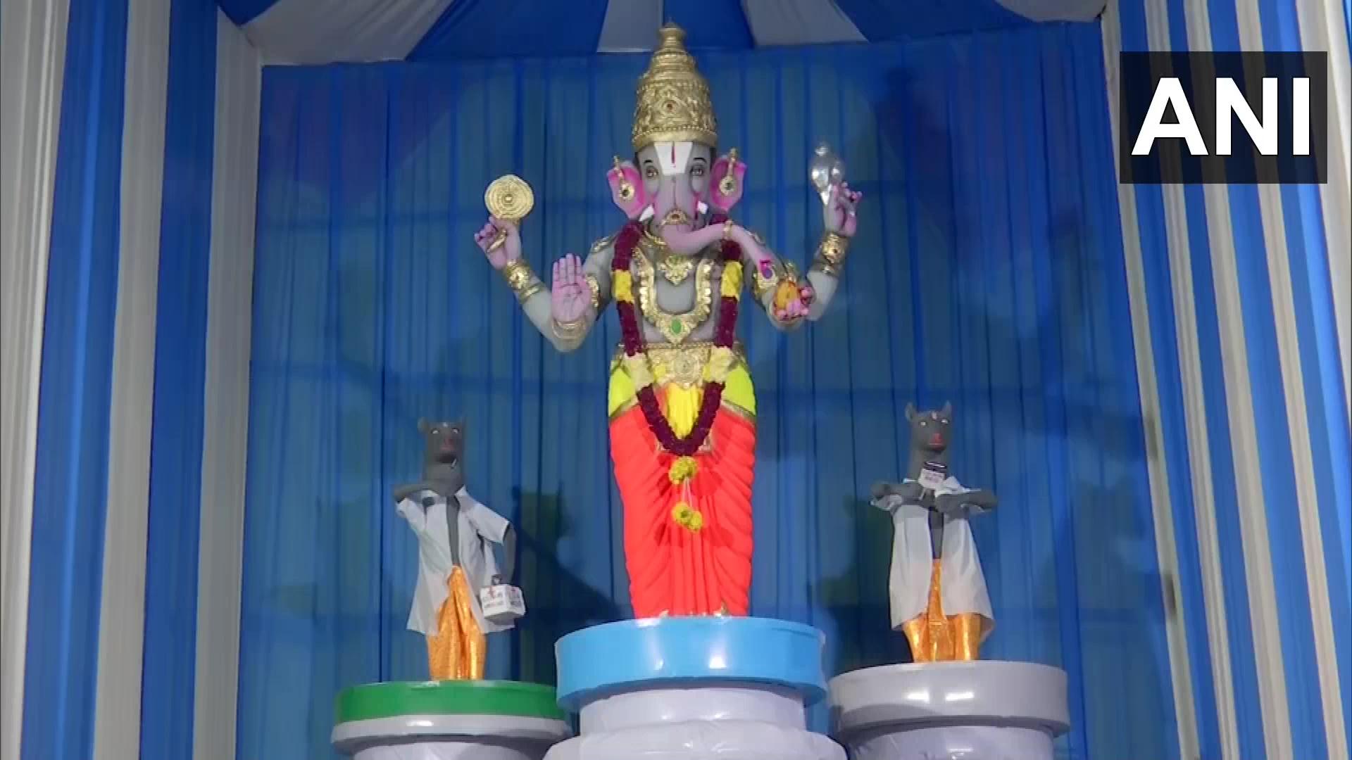 Ganesh Pandal in Hyderabad