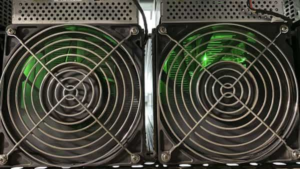Cryptocurrency mining machines at a Canada Computational Unlimited Inc. computation center in Joliette, Quebec, Canada, (Bloomberg)