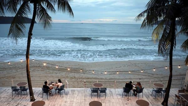 People dine-in at a restaurant following social distancing measures, as Langkawi gets ready to open to domestic tourists from September 16. (REUTERS)