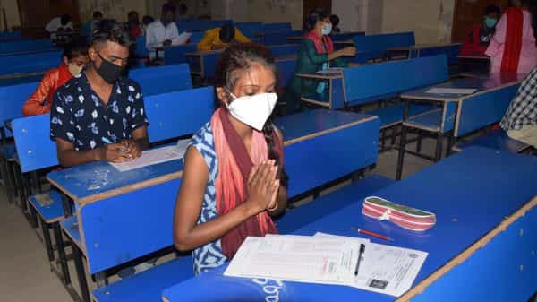 Students during their Compartmental examination of Matric Board in Jharkhand. (PTI)