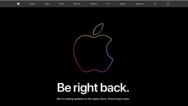 Apple Store is now under maintenance ahead of the annual event (Apple )