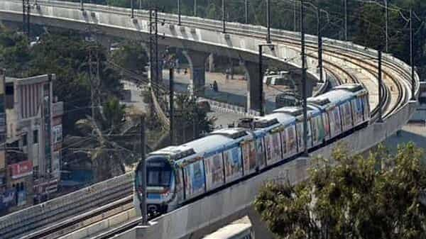 Hyderabad metro rail's revenues from operations and other income in the last financial year stood at  ₹228 crore