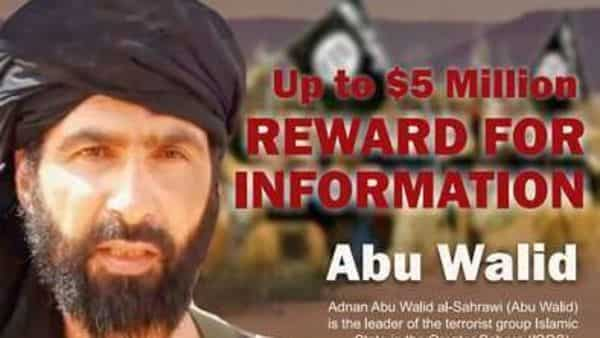 A wanted posted of Adnan Abu Walid al-Sahrawi, the leader of Islamic State in the Greater Sahara. (AP)