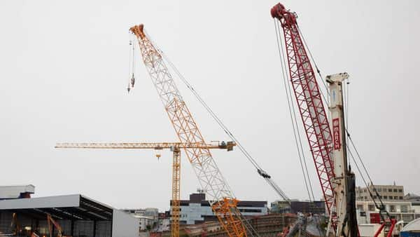Heavy equipment at a construction site can be seen (Representational image). (Bloomberg)