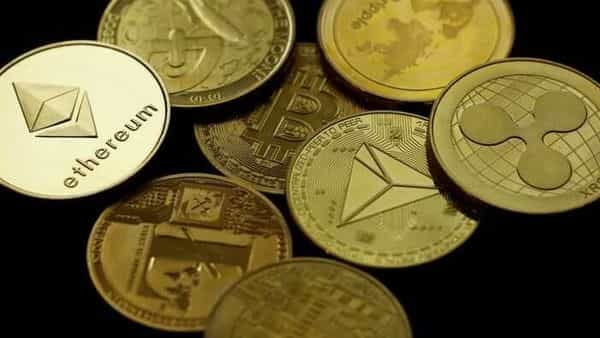 Cryptocurrencies representation is seen in this picture illustration. (REUTERS)