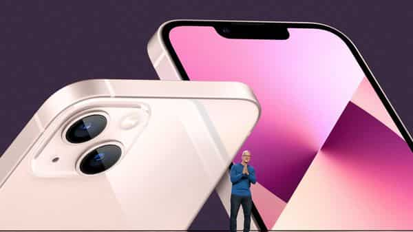 Apple already has shrunk the notch on the iPhone 13 compared to the last generation. (AFP)