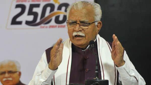 Haryana CM Manohar Lal Khattar (File photo) (HT_PRINT)