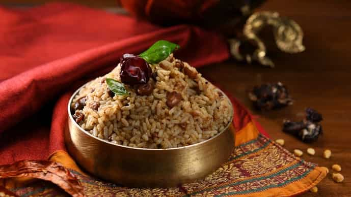 Svatma's tamarind rice.