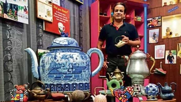 The pride of Avinash Dugar's collection is a porcelain teapot from Cambodia that's 4ft wide, 3ft tall and weighs 250kg.
