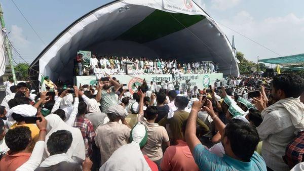 Bharat Bandh on 27 September: 'Kisan Mahapanchayat' over the ongoing farmers' agitation against Centre's farm reform laws, (PTI)