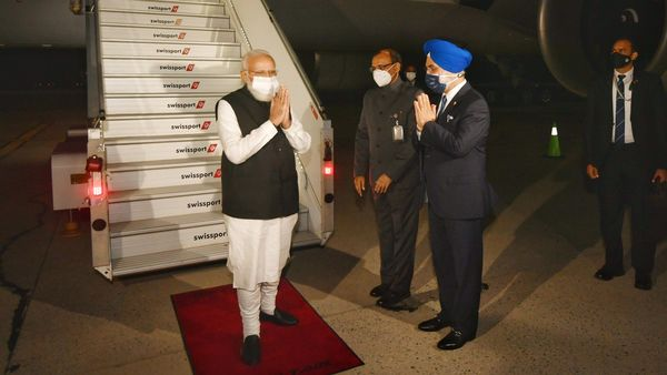 PM Modi arrived in New York today, to address the 76th session of the UNGA.