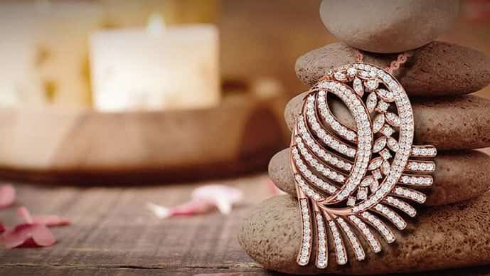 A pendant by Wondr Diamonds, a brand in south India that offers lab-grown diamond jewellery