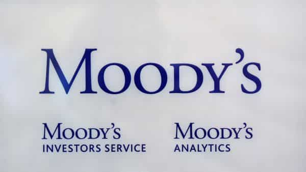 The logo of credit rating agency Moody's Investor Services is seen outside an office. (Reuters)