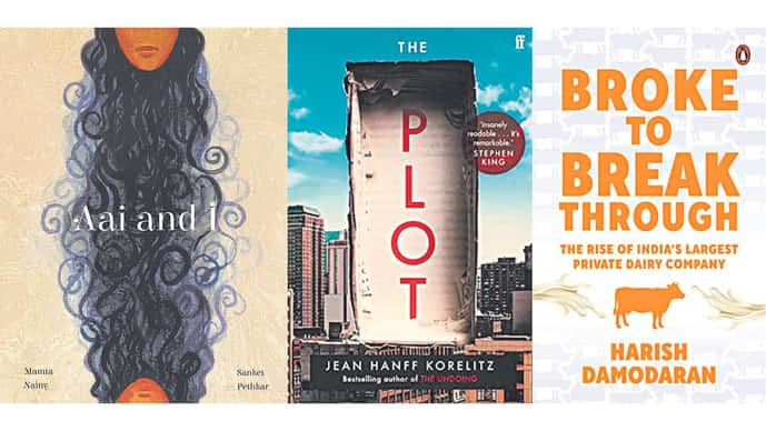 The front covers of the three books.