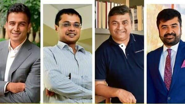 From left to right: Nithin Kamath, founder and chief executive officer of Zerodha Group; Sachin Bansal, founder of Navi AMC; Deepak Shenoy, founder and chief executive officer of Capital Mind; and Aashish Somaiyaa, chief executive officer of White Oak Capital.
