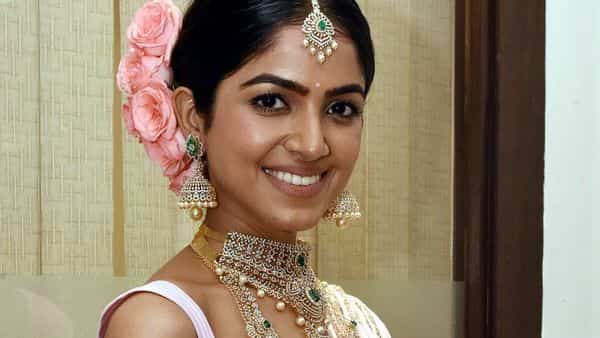 Gold rate today fell to  ₹46,845 per 10 gram. (Photo: Actress Drishika Chander at the launch of the Navratri Jewellery Collection and Wedding Jewellery Collection by Manepally Jewellers in Hyderabad) (ANI)