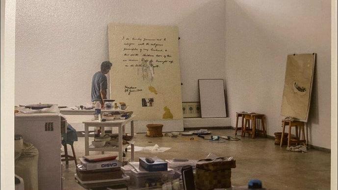Desmond Lazaro's studio