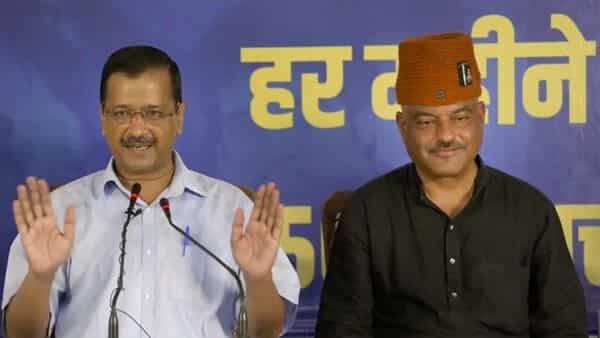 Delhi Chief Minister Arvind Kejriwal addresses a press conference, AAP's Chief Ministerial candidate for Uttarakhand election Col. Ajay Kothiyal is also seen (PTI)
