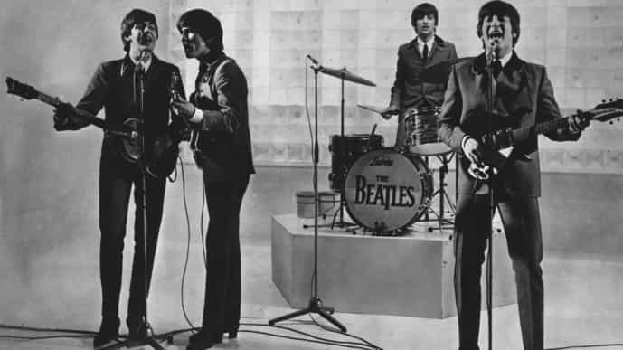 """From left to right: Paul McCartney, George Harrison, Ringo Starr, and John Lennon. McCartney has revisited the breakup of The Beatles, refuting the suggestion that he was responsible for the group's demise. Speaking on an episode of BBC Radio 4's """"This Cultural Life'' that is scheduled to air Oct 23, McCartney said it was John Lennon who wanted to disband The Beatles. (AP Photo)"""